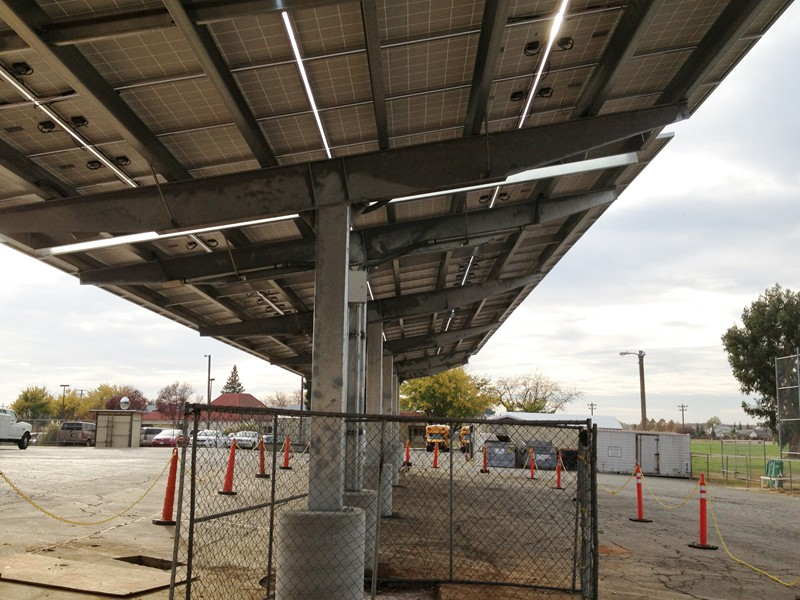 Bear River Middle School Wheatland Ca Solar Carport Structures Support Structure For Solar